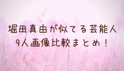 堀田真由が似てる芸能人は誰?木村文乃など9人画像比較まとめ!
